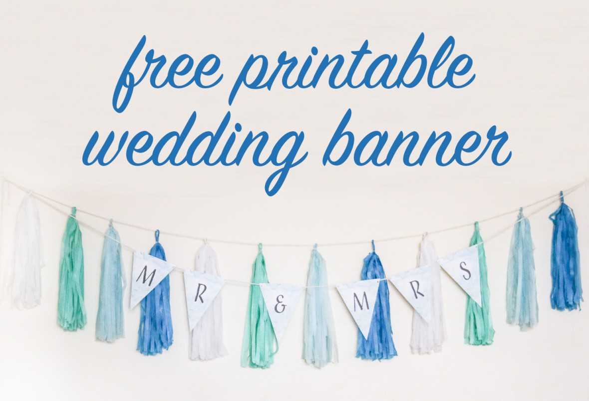 Diy Wedding Word Banners: FREE DIY Printable Wedding Banner