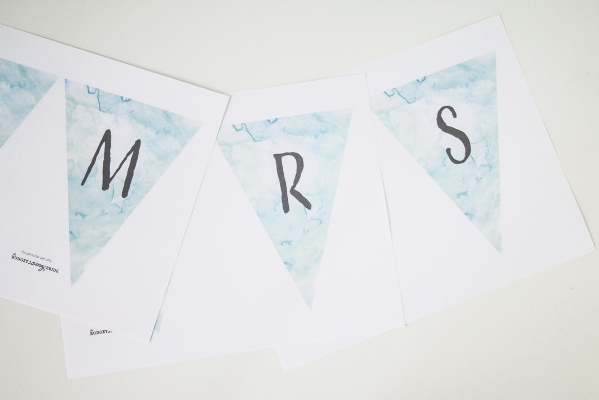 free printable wedding banner