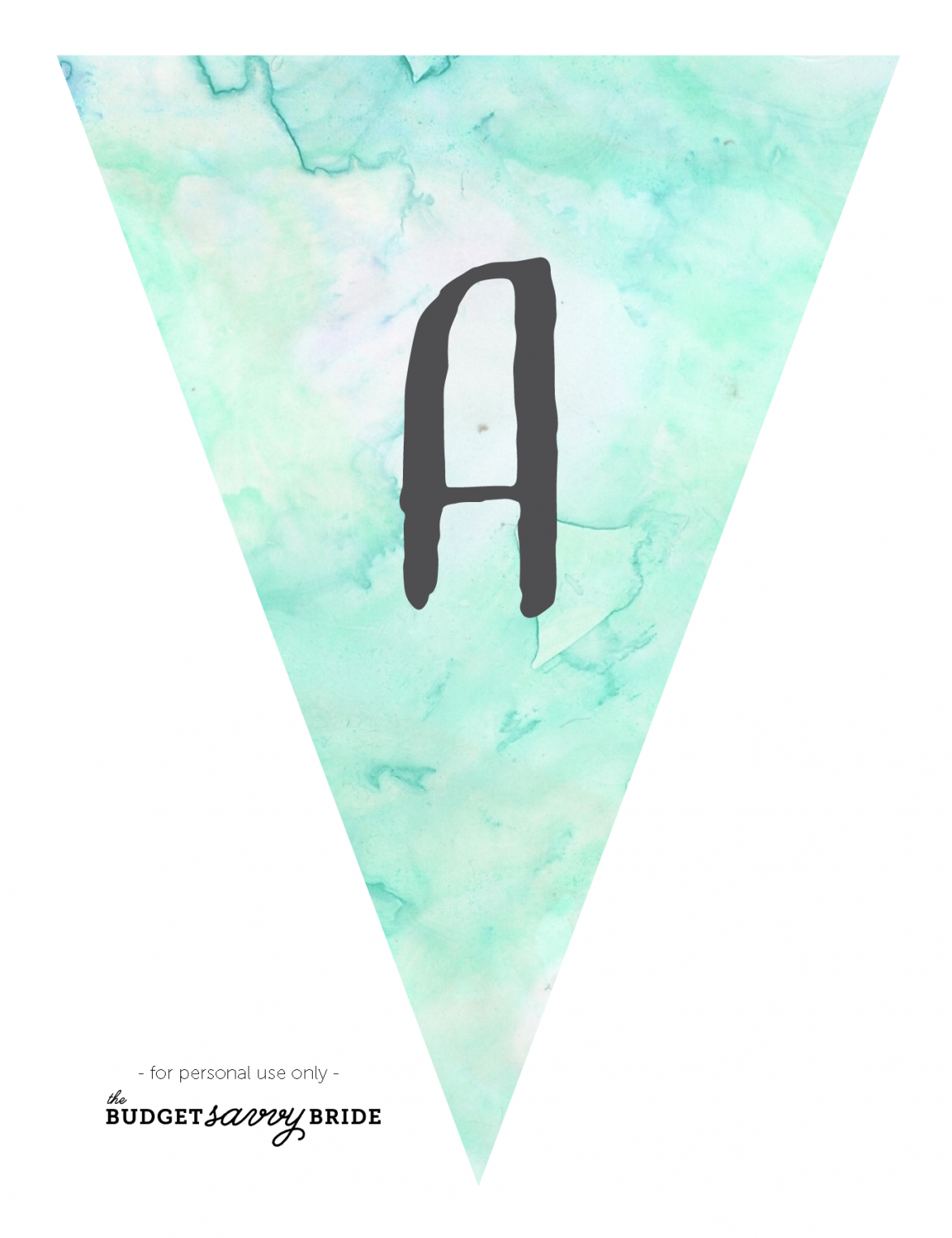 printable watercolor banner - turquoise
