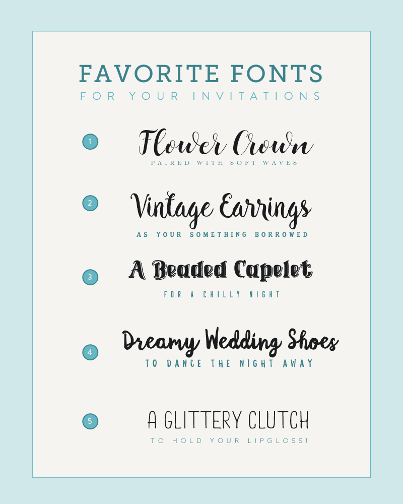 Font Pairings Inspired By Wedding Accessories