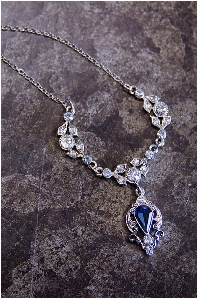blue wedding jewelry