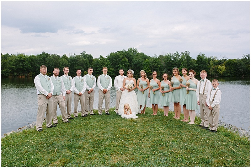 sage and khaki wedding attire