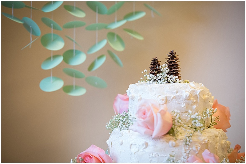 pine cone wedding topper