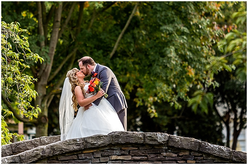 stone bridge wedding photos