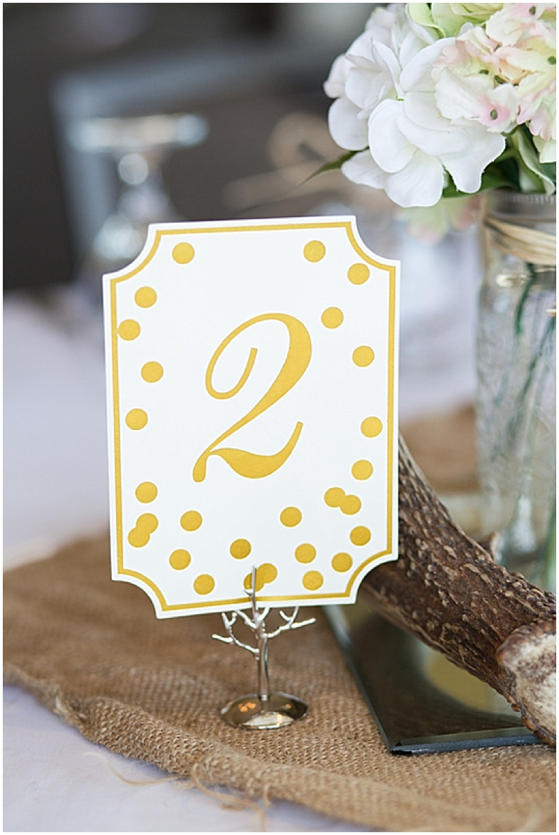 gold table numbers