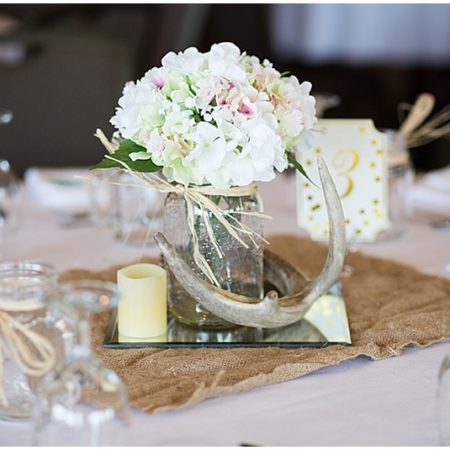 antler wedding reception decor