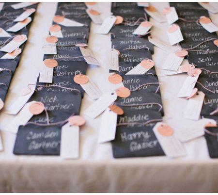 chalkboard wedding details