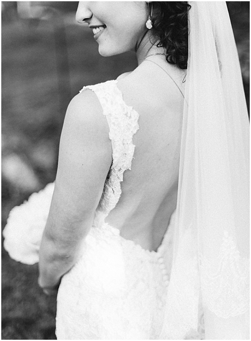 low cut wedding dress back