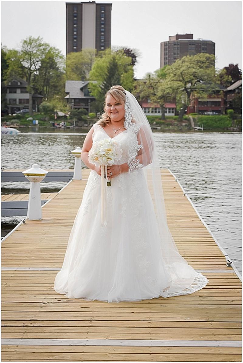 v-neck bridal gown