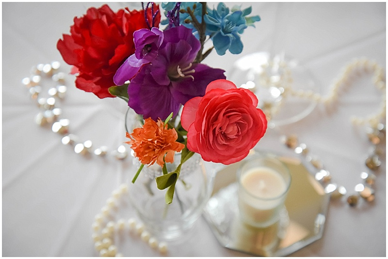 colorful wedding centerpieces