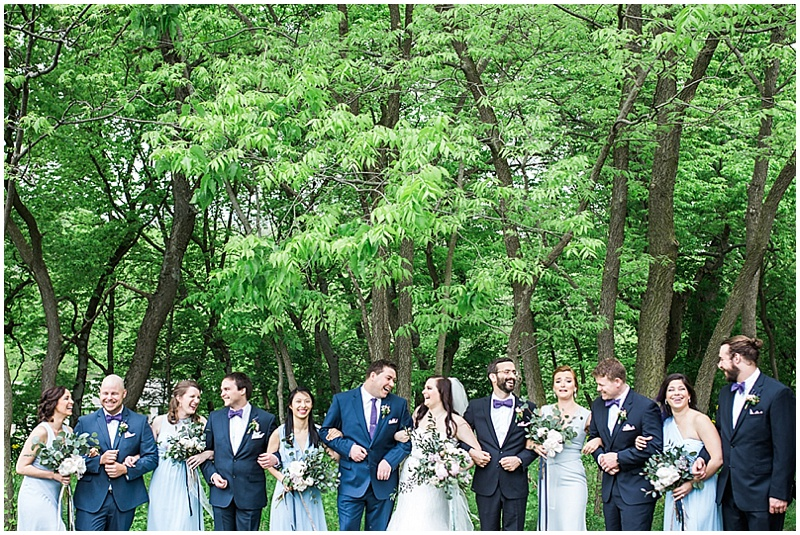 gray and blue wedding dresses