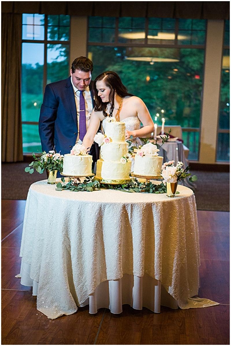 white shabby chic wedding cake