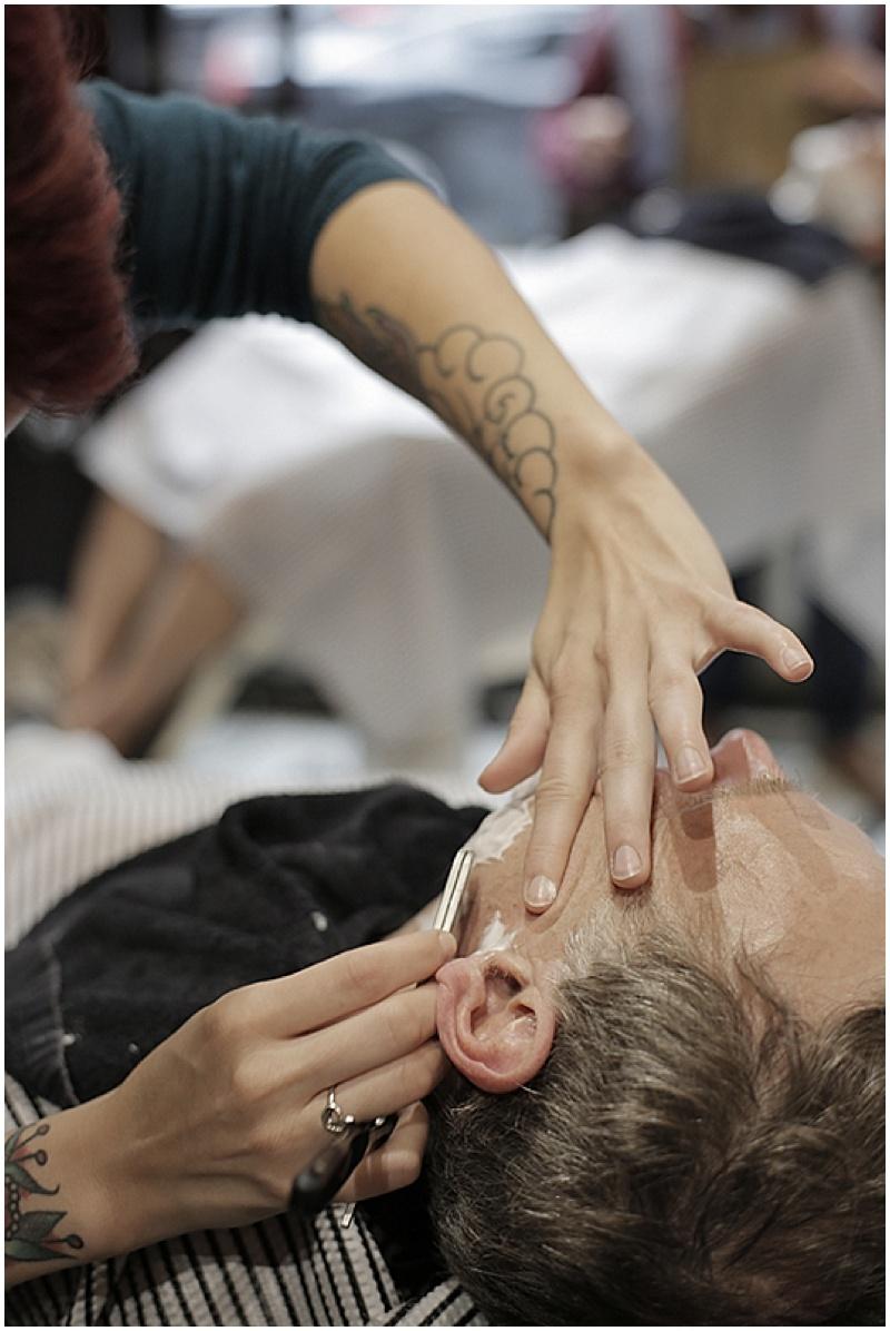 groom shaving