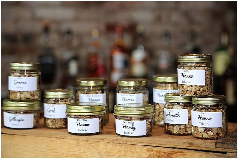 granola wedding favors