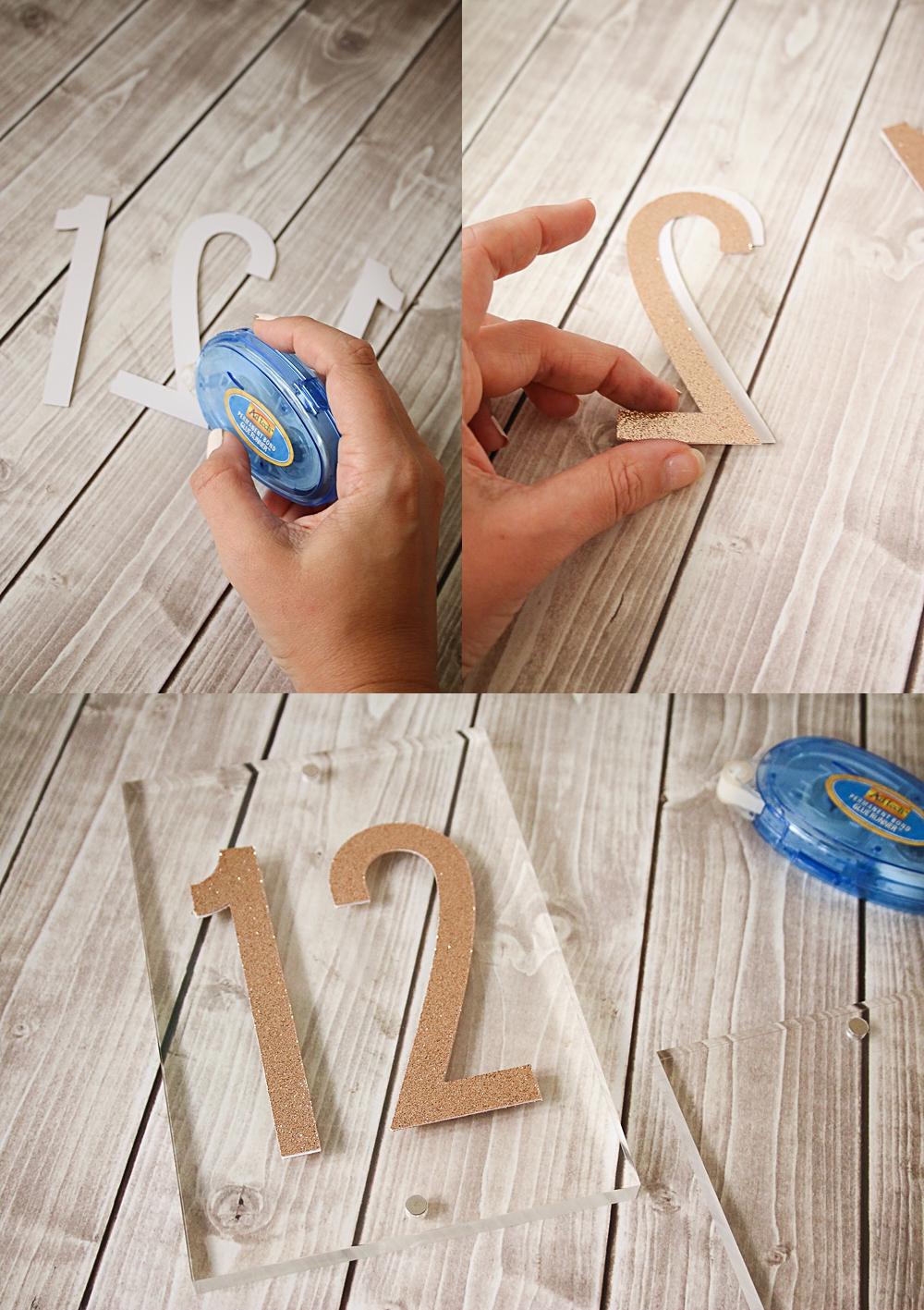 Cricut Acrylic Block Table numbers