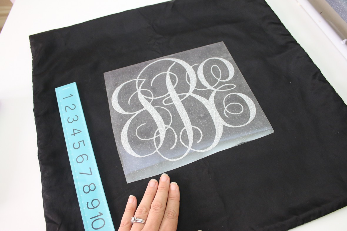 Iron on Glitter Monogram