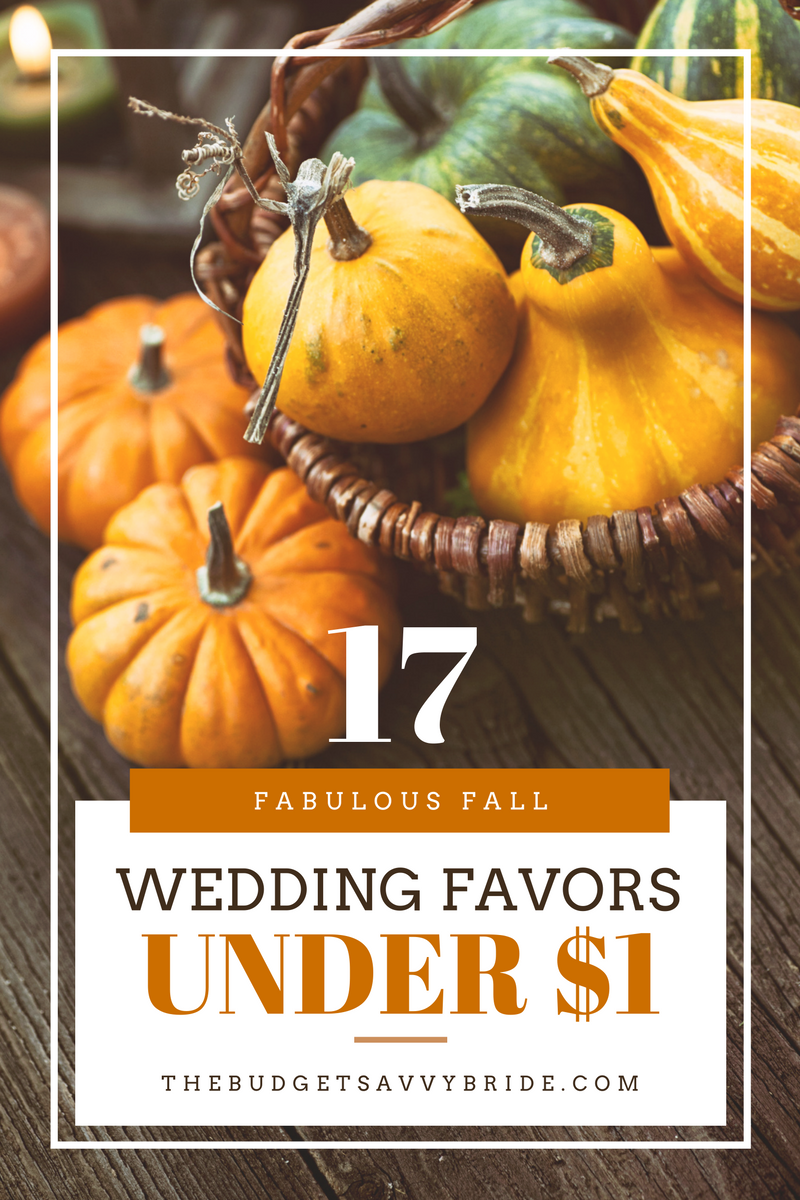 17 fall wedding favors under 1 the budget savvy bride 17 fall wedding favors under 100 junglespirit Image collections