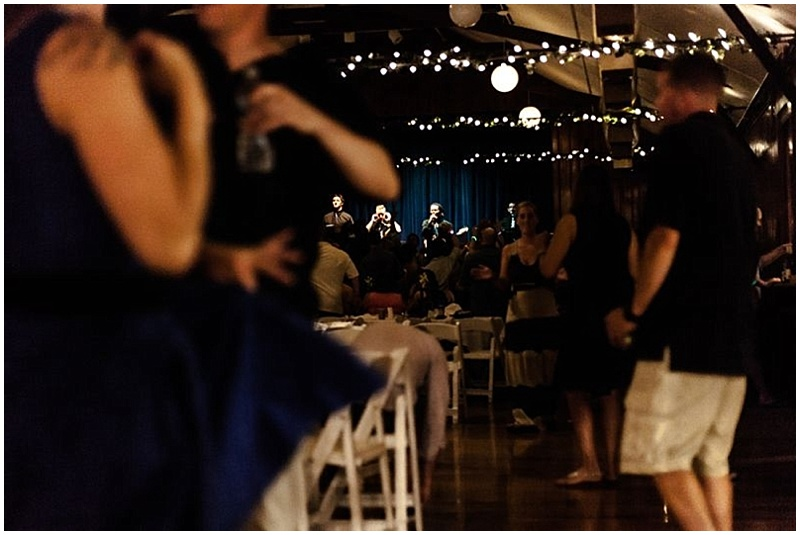 campground wedding reception