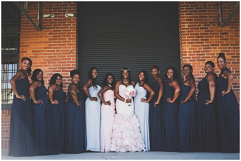navy and light blue bridesmaid dresses