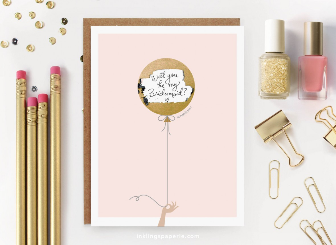 Inklings Paperie - Bridesmaids Proposal Cards from Etsy