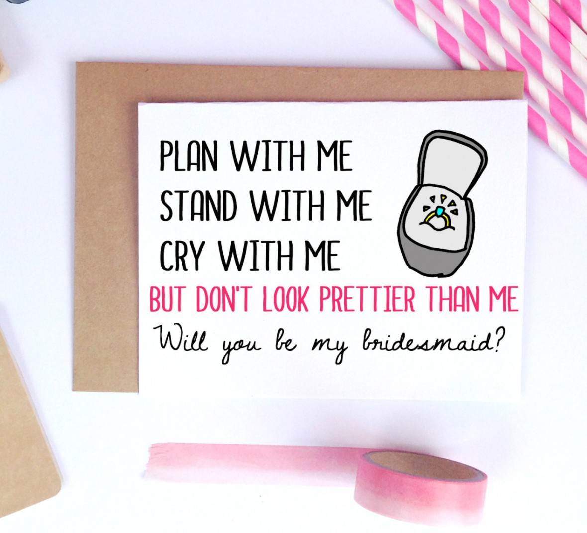 Laila Me Designs - Bridesmaids Proposal Cards from Etsy