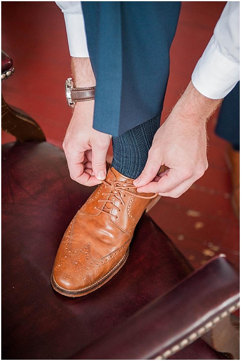 brown groom shoes