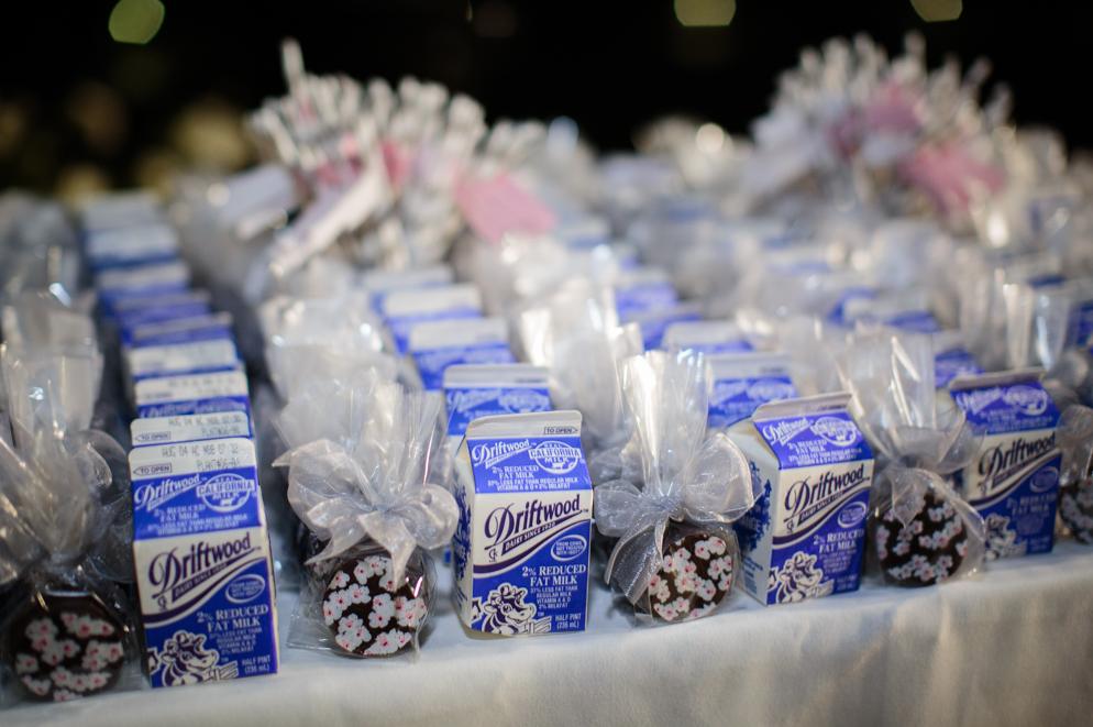 Wedding Cookies and Milk Favors
