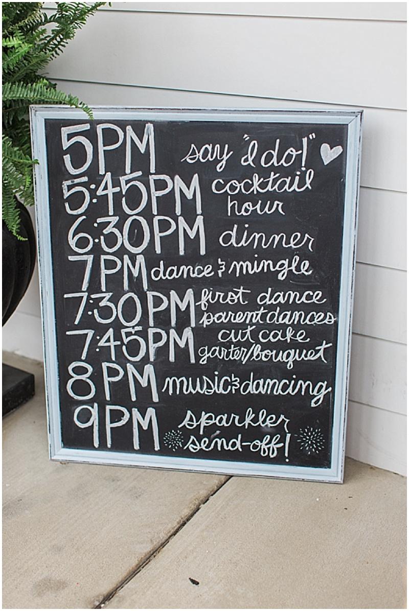 chalkboard wedding program