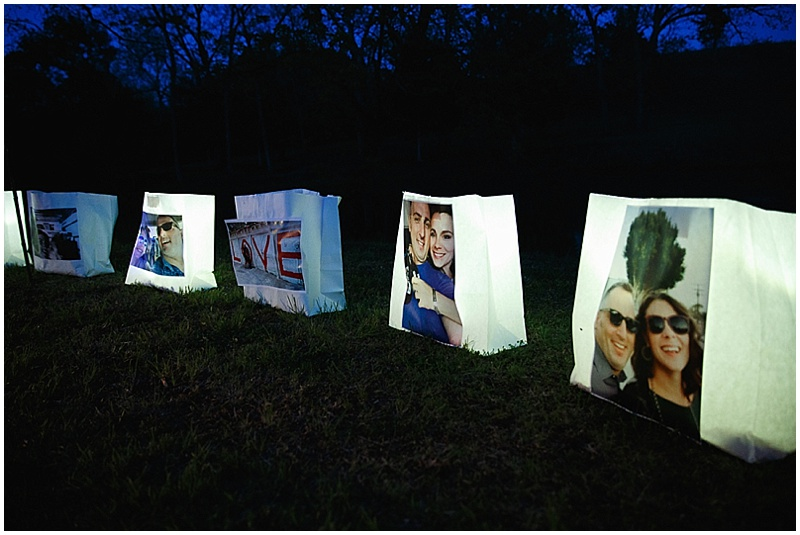 homemade luminaries