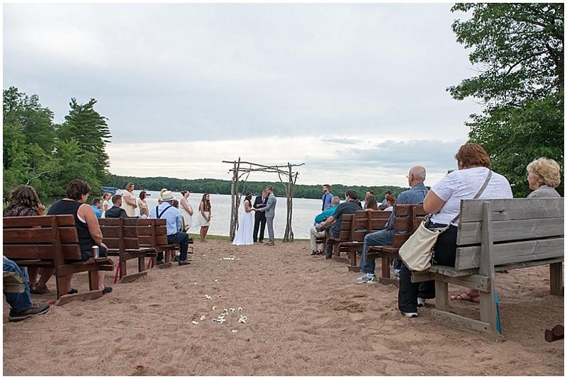 lakeside wedding ceremony