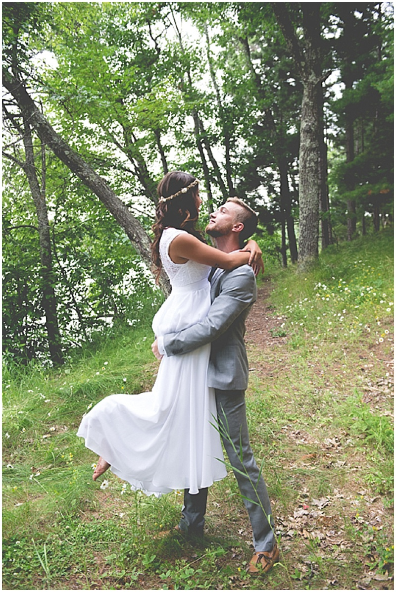 wooded wedding photos