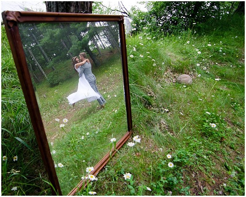 wooded wedding photos