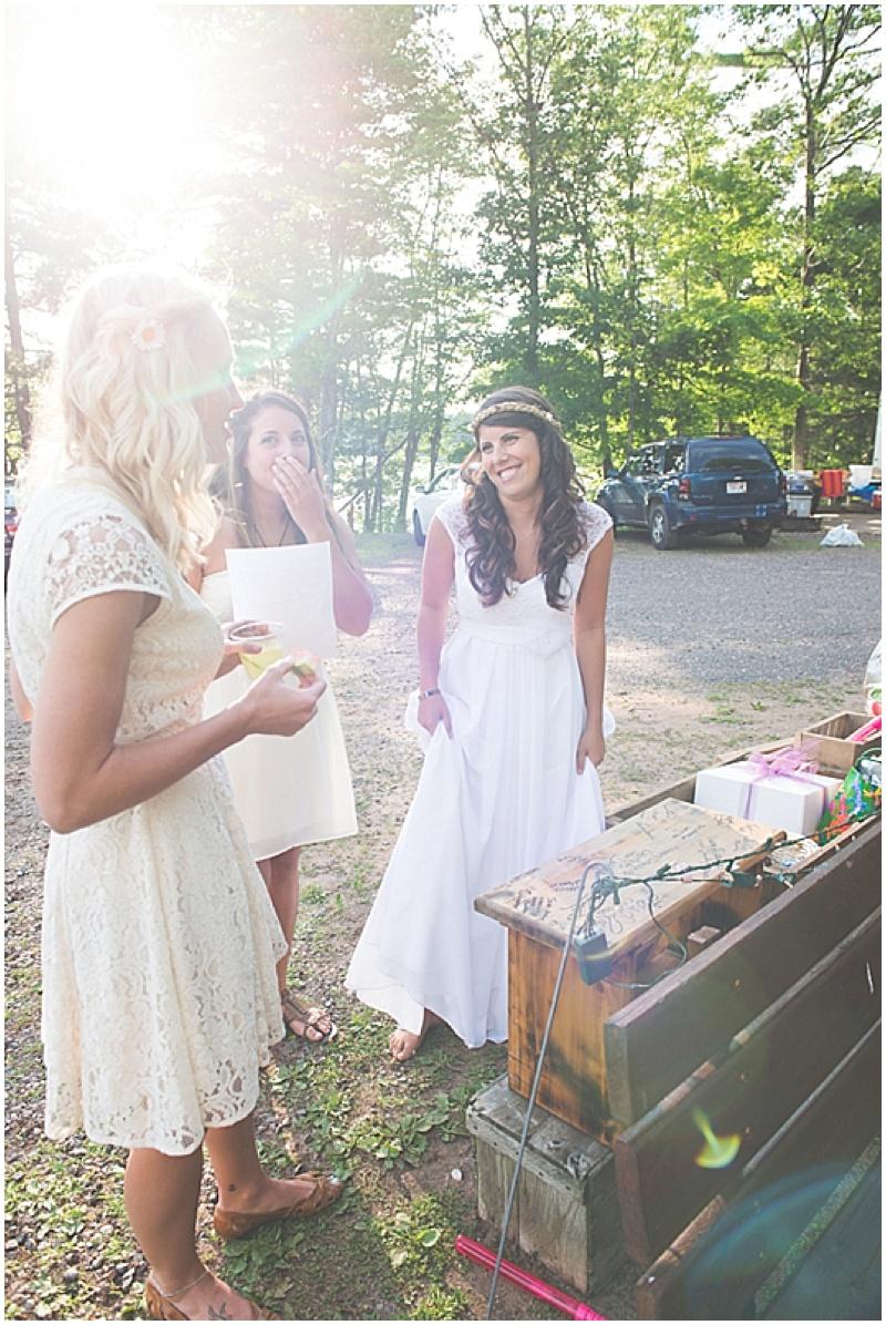 casual rustic wedding reception