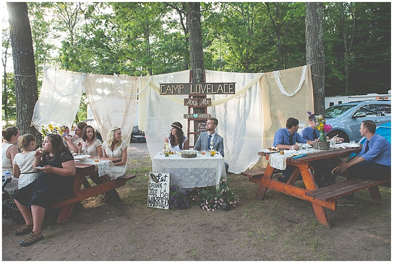casual rustic wedding reception