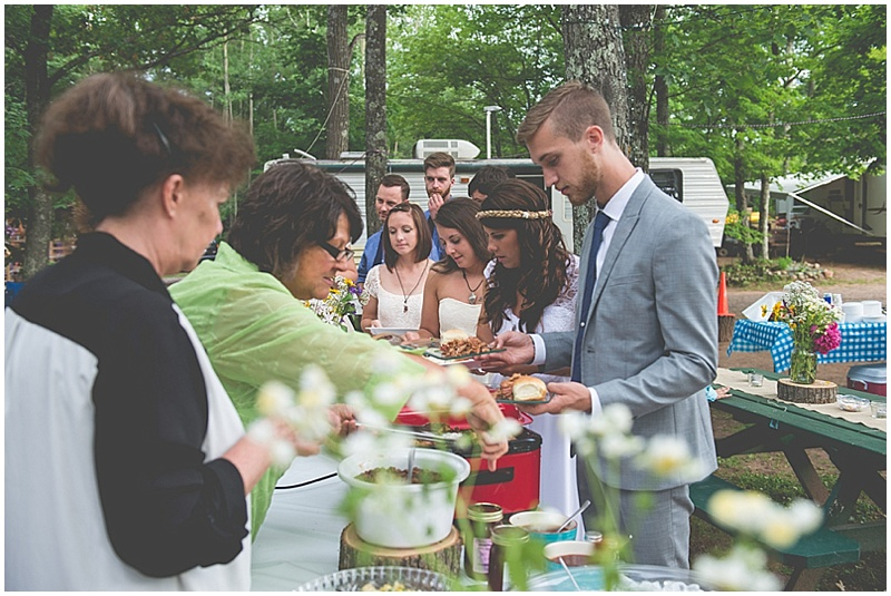 self-catered wedding reception