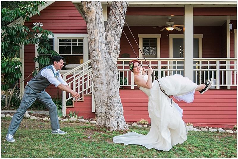 swing wedding photos