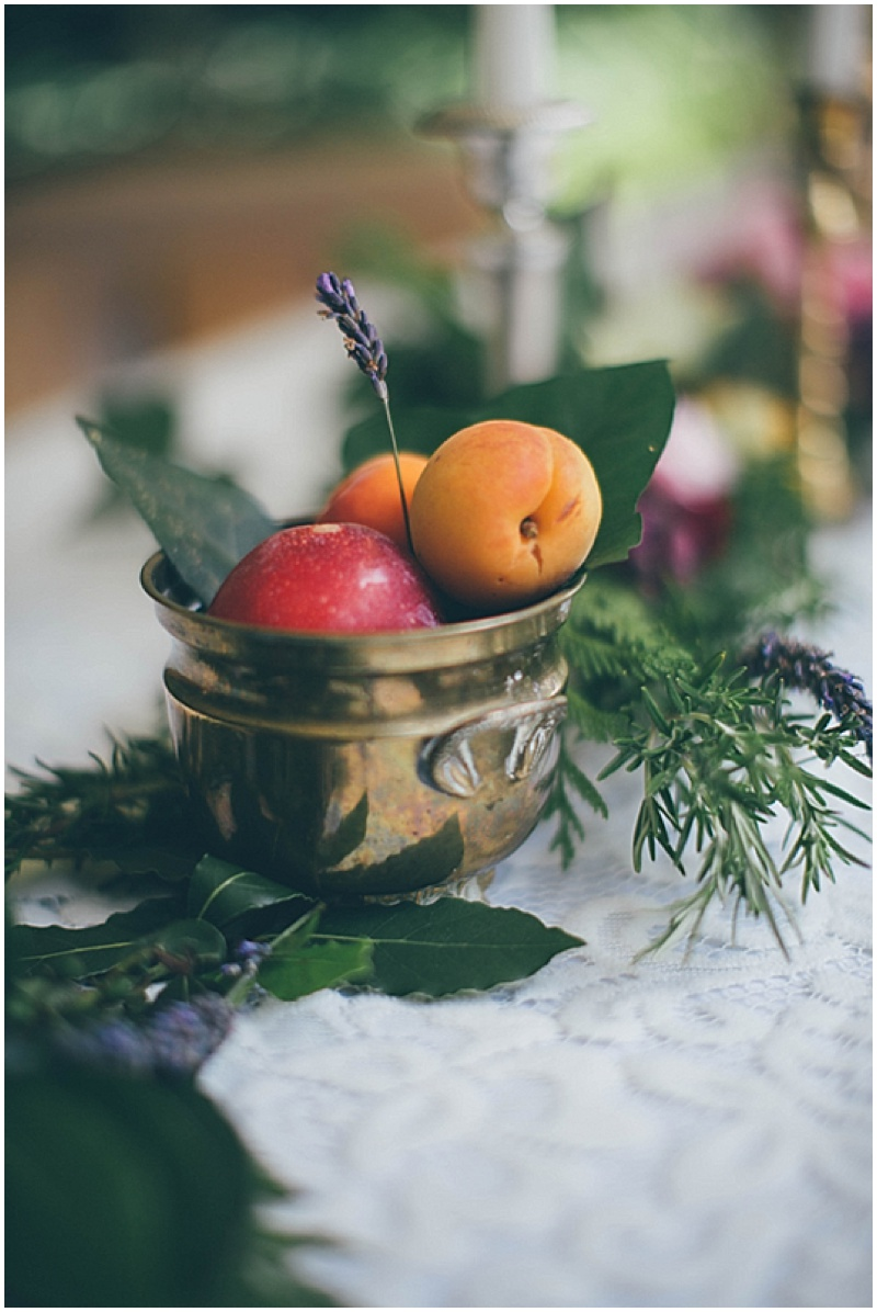 fresh fruit wedding decor