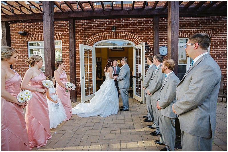 courtyard wedding