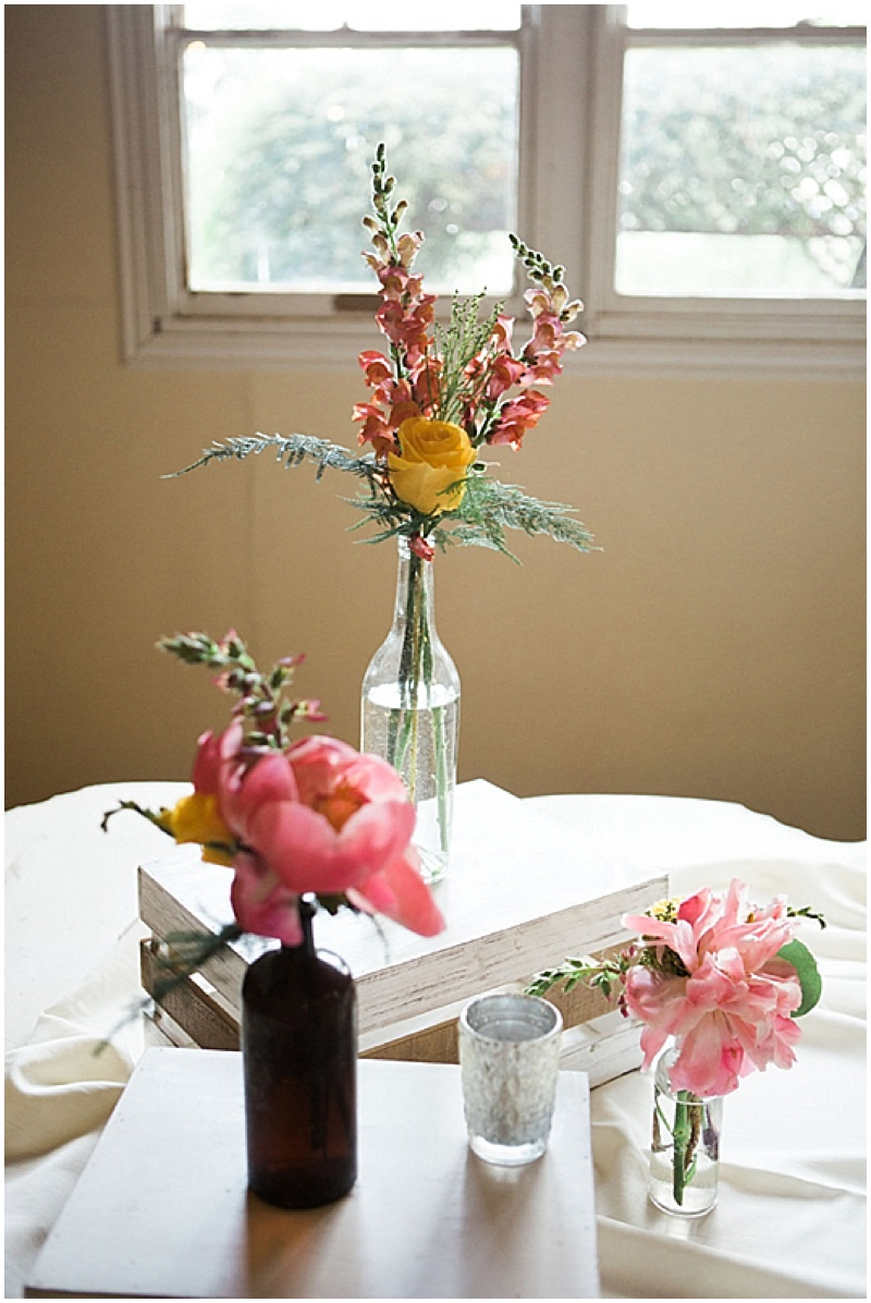 mismatched wedding vases