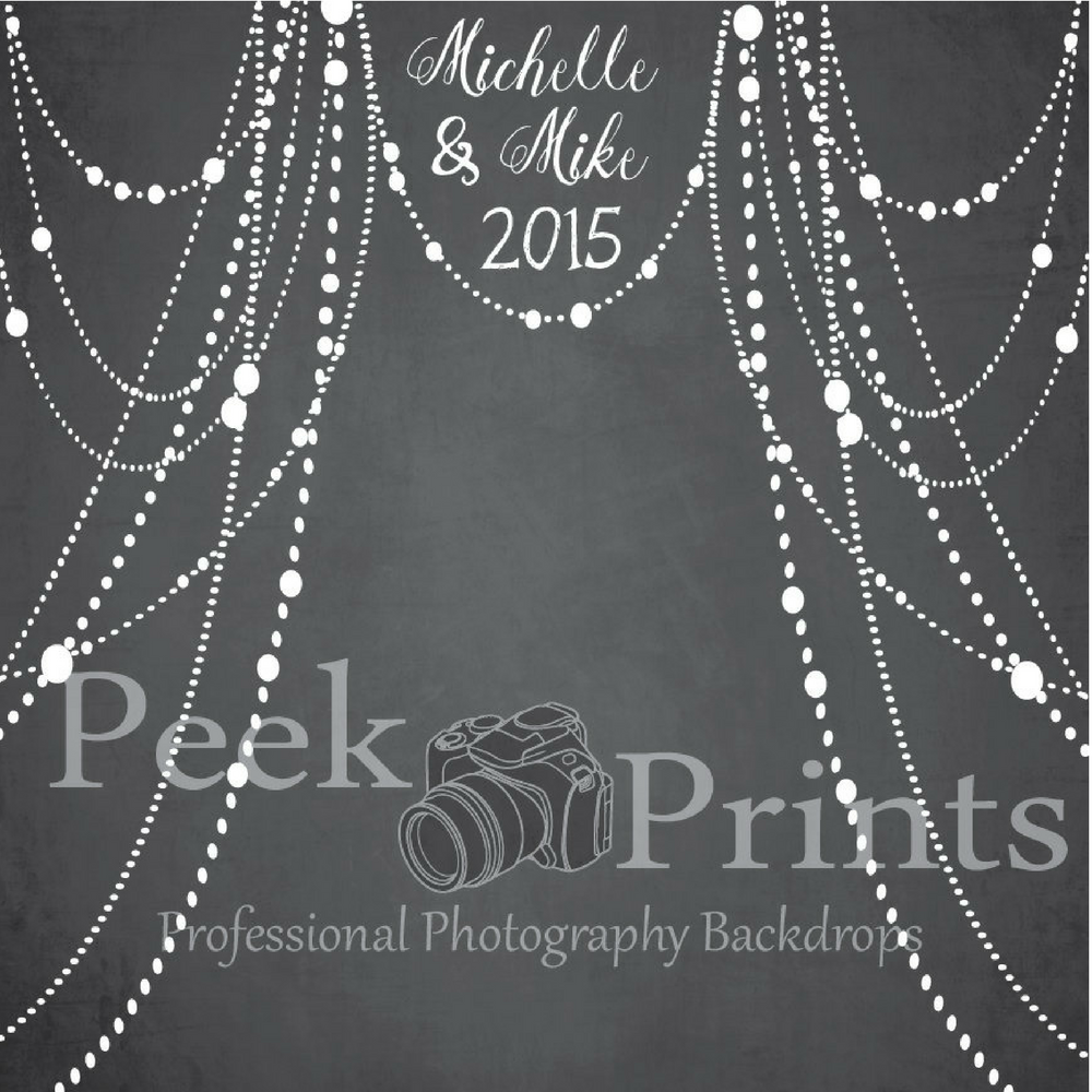 Personalized Wedding Chalkboard Photo Backdrop by PeekPrints on Etsy