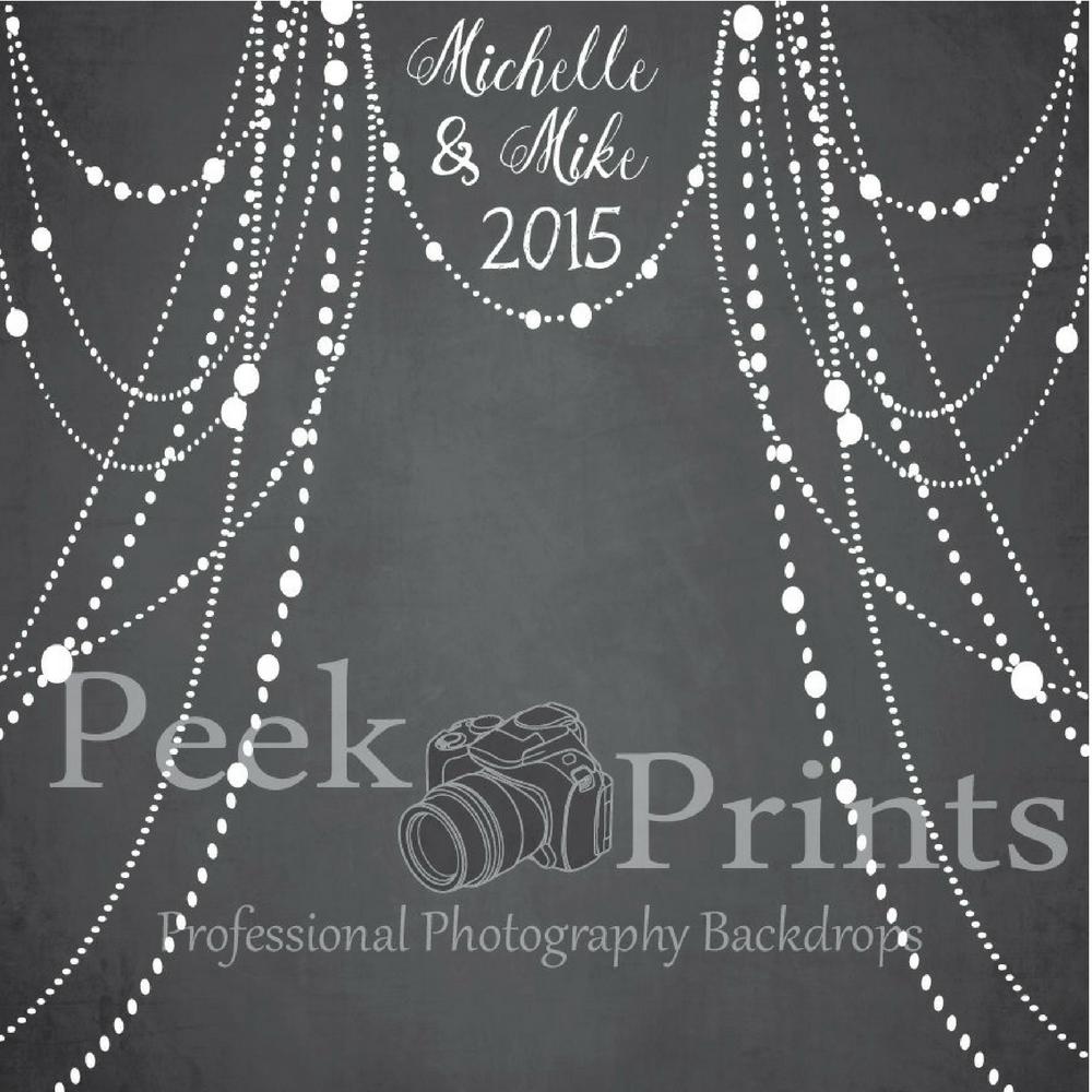 Personalized Wedding Chalkboard Photo Backdrop by PeekPrints on Etsy