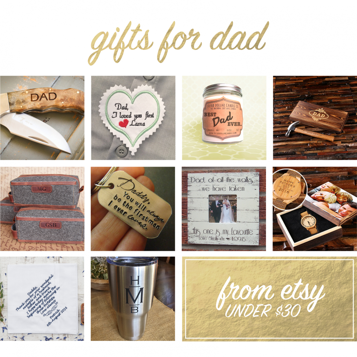 Handmade Gifts for Dads from Etsy