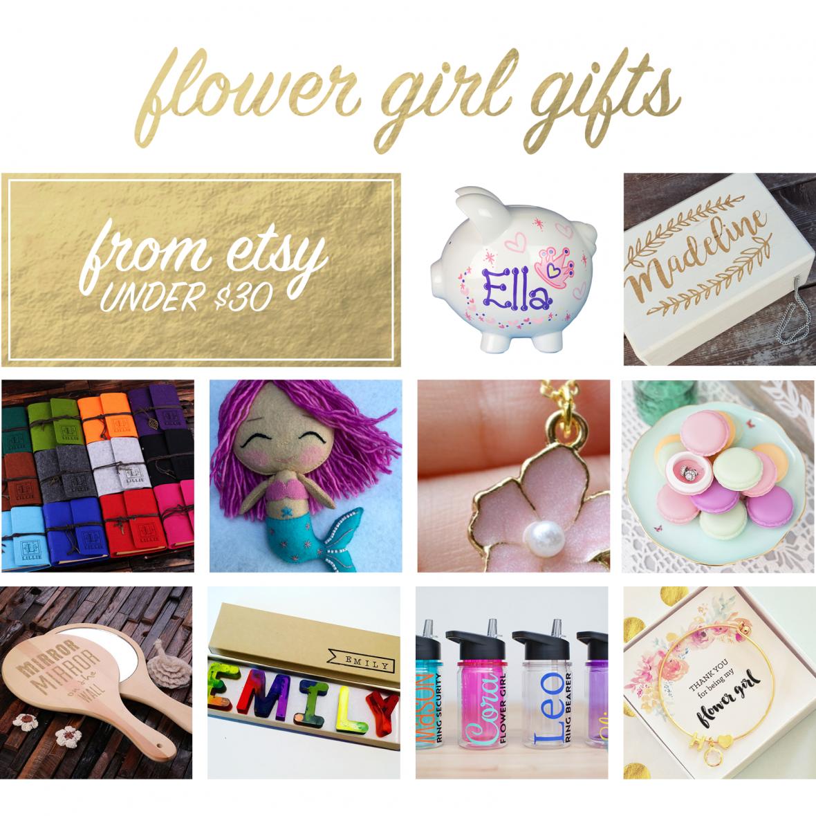 Handmade Gifts for Flower Girls from Etsy