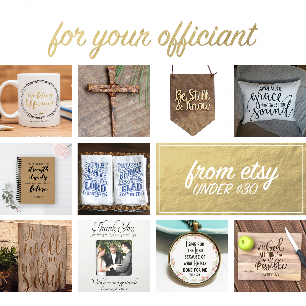 Handmade gifts for officiants from Etsy