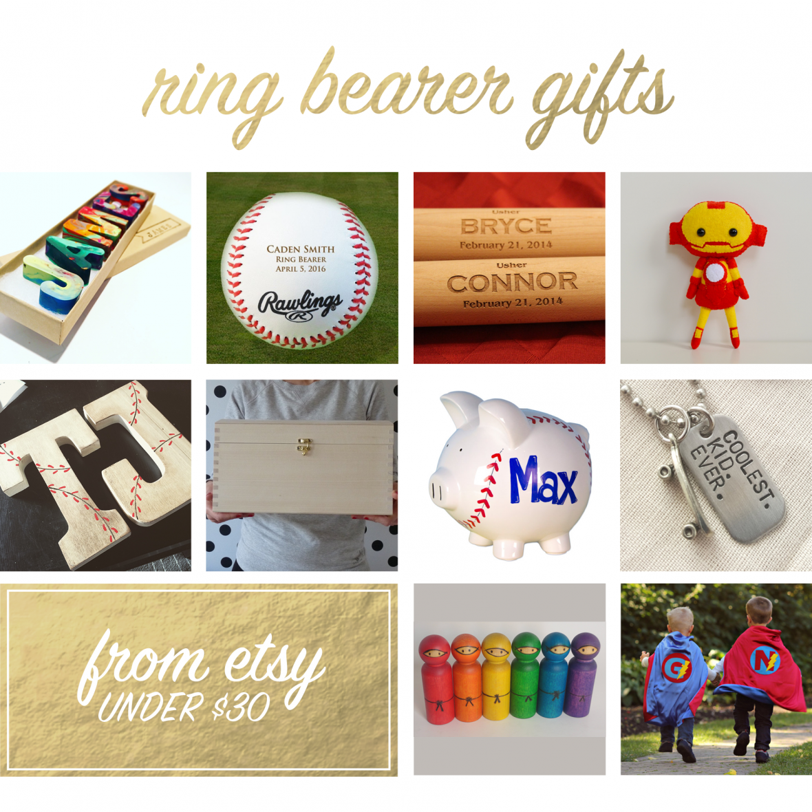 Handmade Gifts for Ring Bearers from Etsy