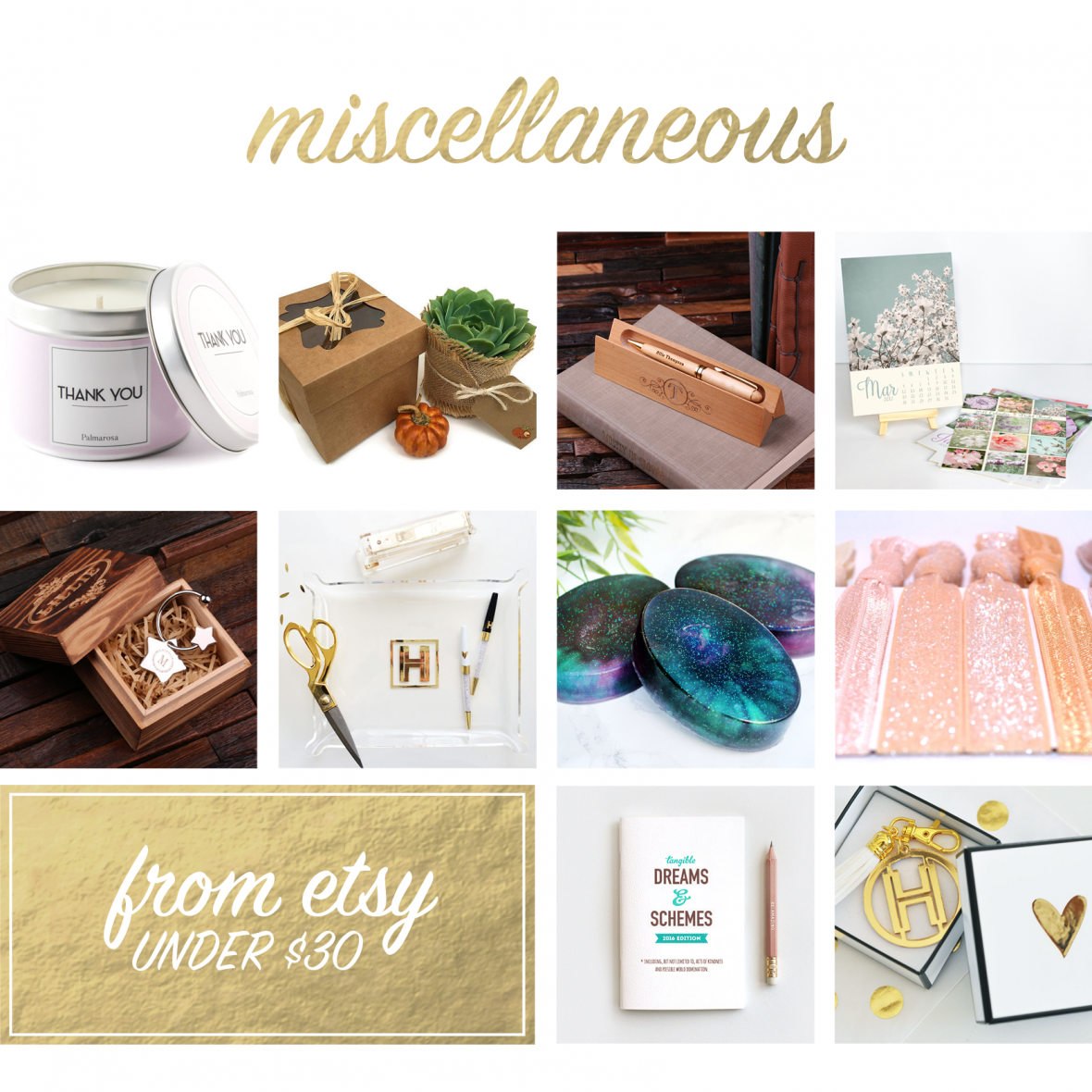Handmade gifts for wedding vendors from Etsy