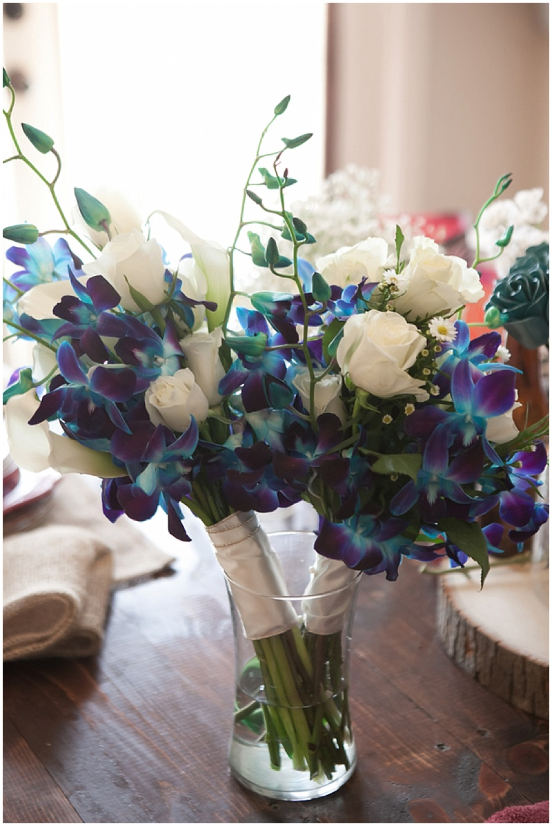 blue and white flowers