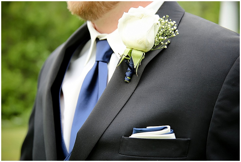 blue and navy groom's attire