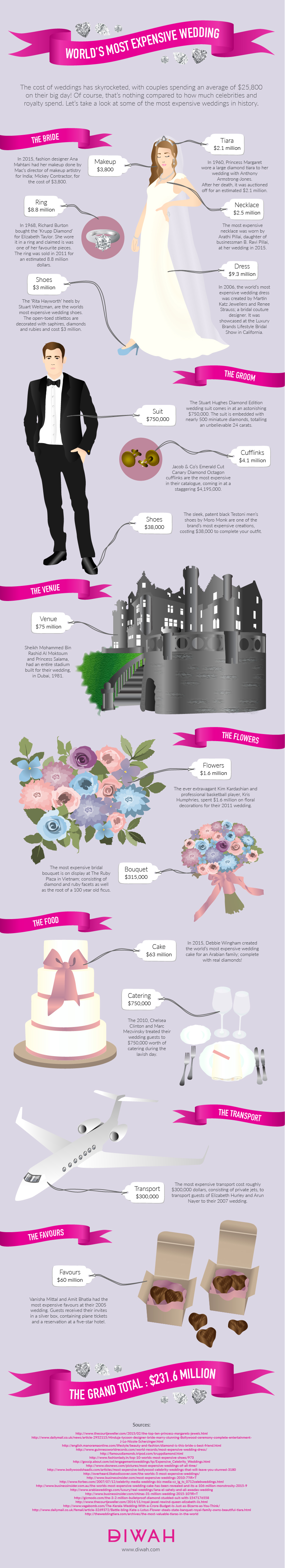 Most Expensive Wedding Infographic