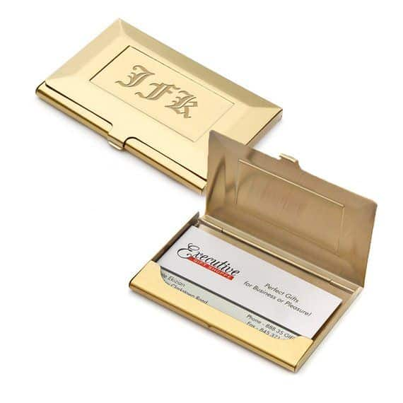 business card holder - traditional groomsmen gift ideas